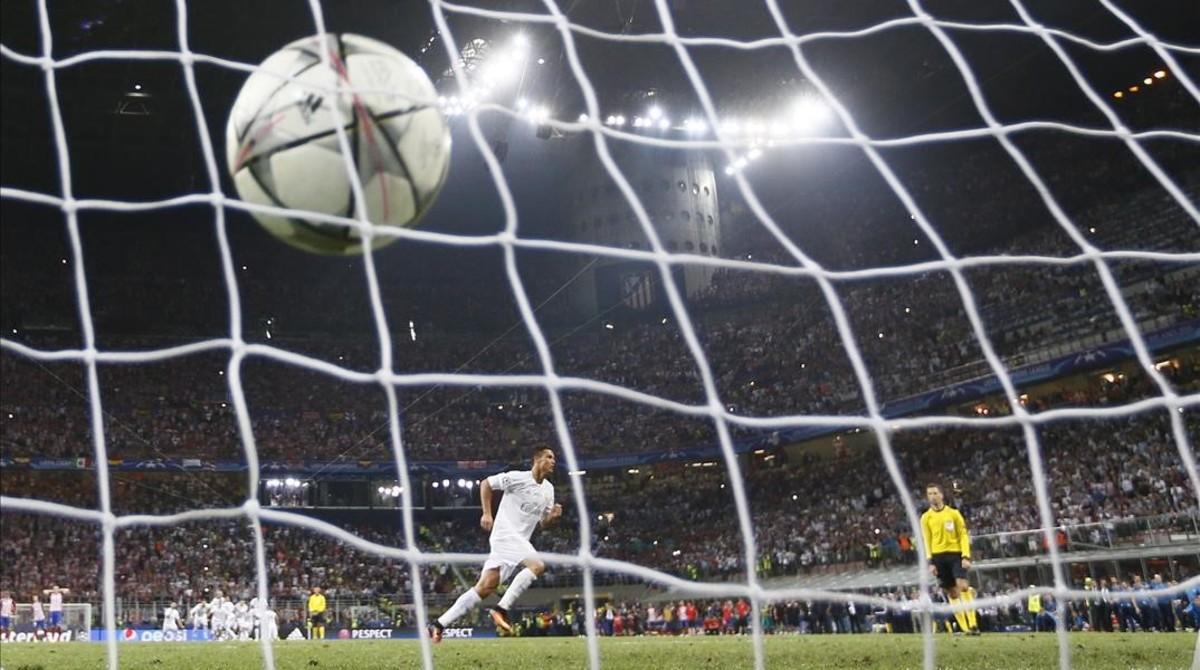 Tanda de penaltis de la final de la Champions Real Madrid-Atlético. La retransmisión más vista del 2016 en la televisión española.