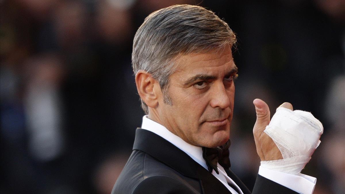 George Clooney, en la Mostra de Venecia del 2009.