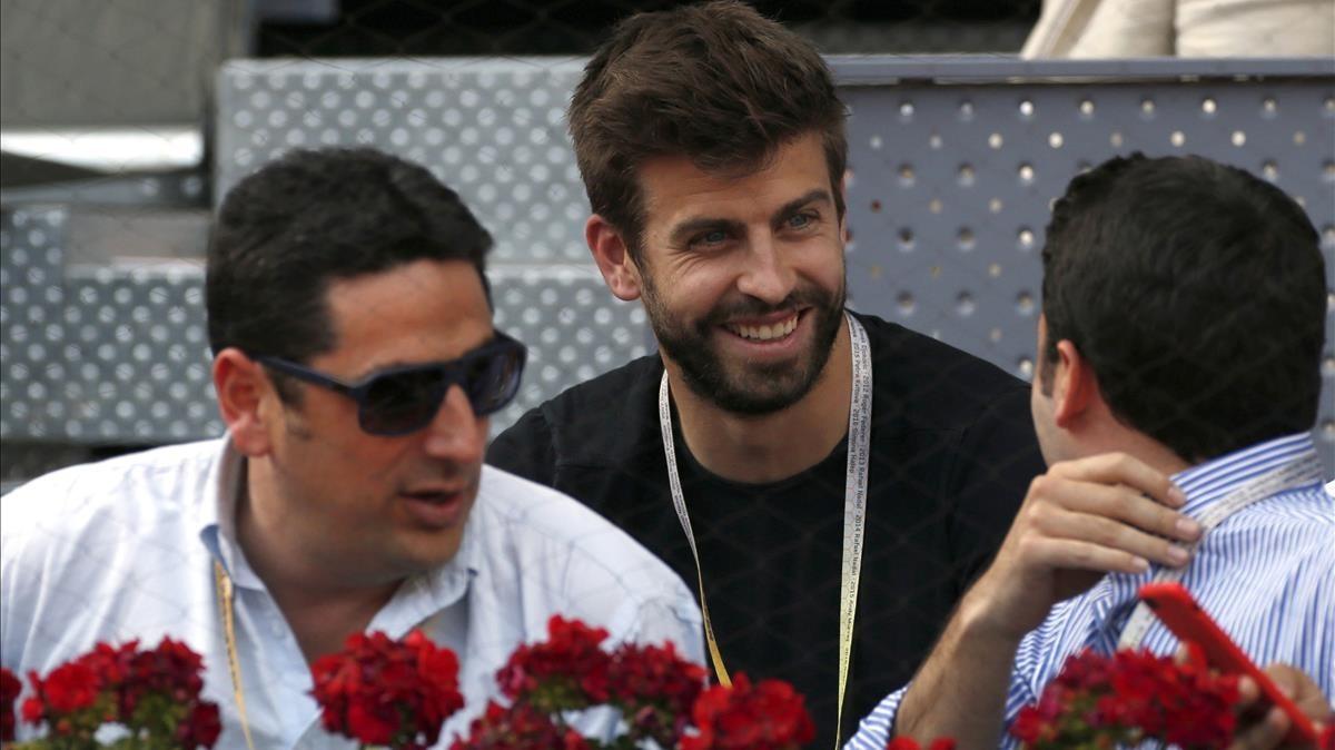 Gerard Piqué, promotor de la nueva Copa Davis, en el torneo Mutua Madrid Open en la Caja Mágica.