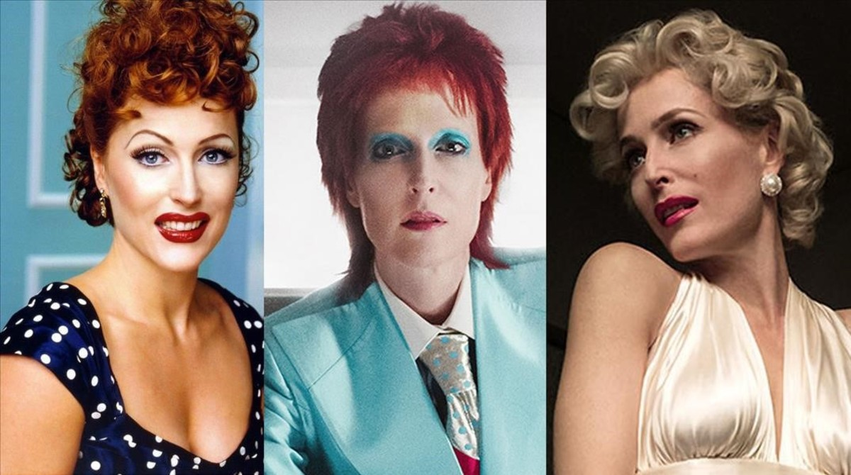 Gillian Anderson, en 'American Gods', caracterizada como Lucille Ball, David Bowie y Marilyn Monroe.