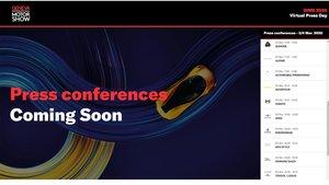 Imagen de la web del salón de Ginebra con las presentaciones virtuales.