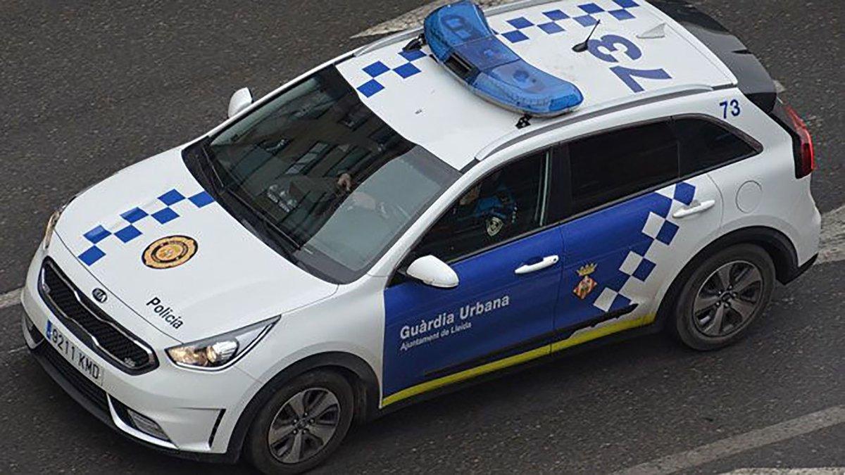 Un vehículo de la Guardia Urbana de Lleida.