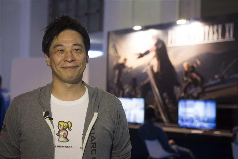 Hajime Tabata, en la Barcelona Games World.