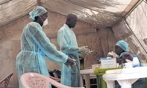 Hospital de Kenema, en Sierra Leona, para enfermos de ébola, el pasado junio.