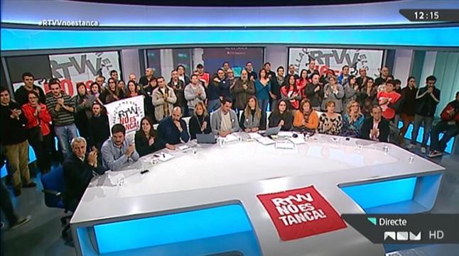 Imatge del reportatge de 30 minuts sobre el tancament de Canal 9.