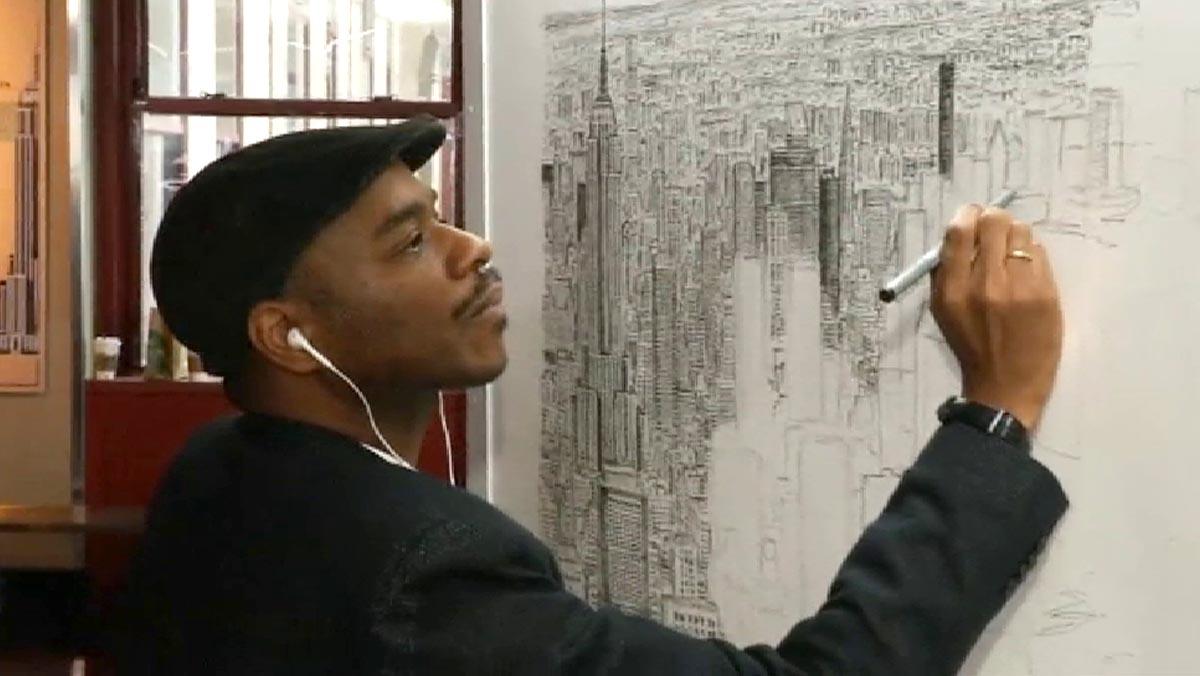 Stephen Wiltshire es capaz de dibujar ciudades enteras tras observarlas solo 45 minutos.