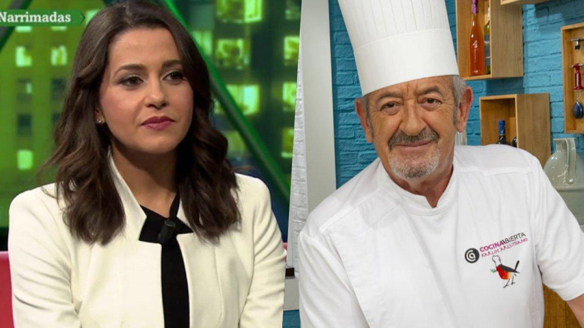 Inés Arrimada y Karlos Arguiñano, invitados en 'laSexta noche'.