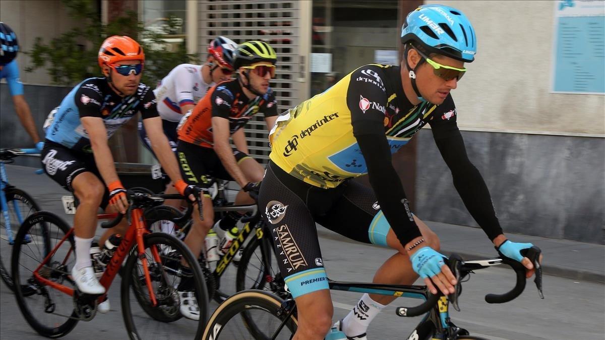Jakob Fuglsang, durante la última etapa de la Vuelta a Andalucía.
