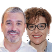 Jaume Collboni y Montserrat Ballarín