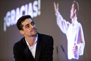 Javier Fernández, durante el acto de homenaje en Madrid.