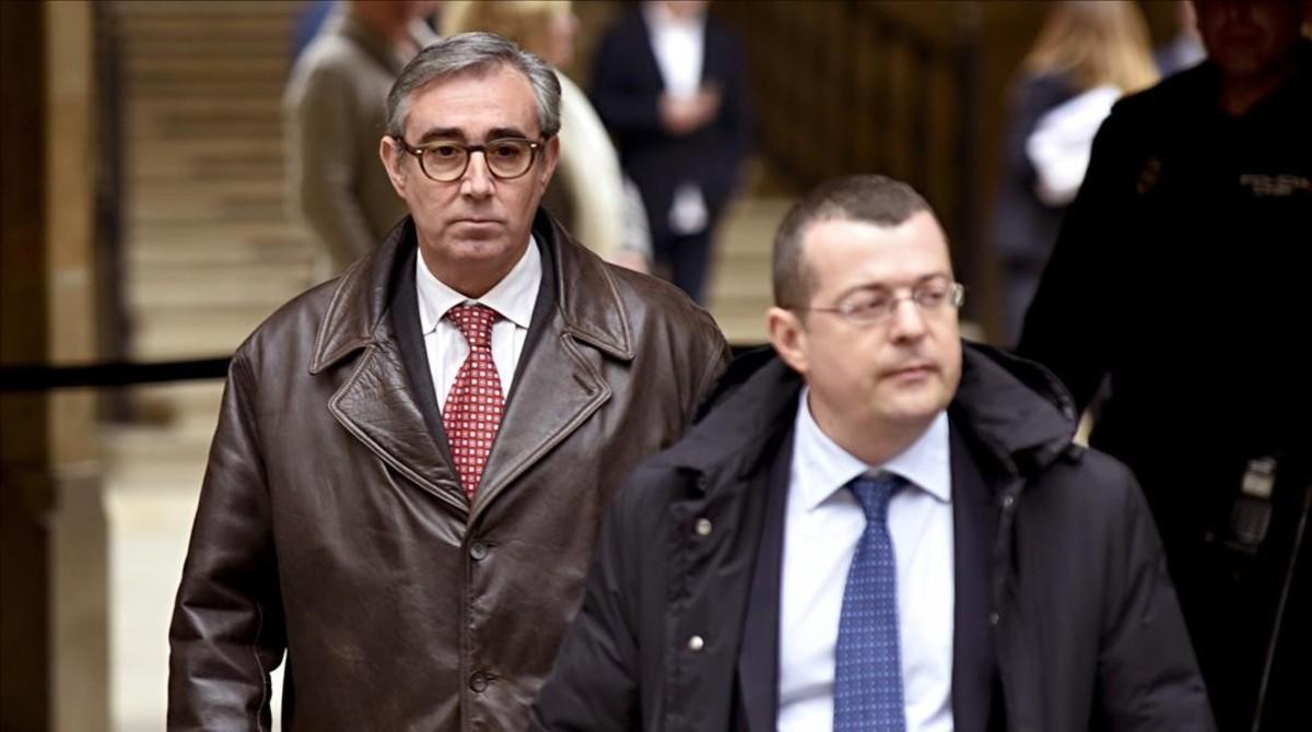 Diego Torres, a su salida de la Audiencia de Palma.