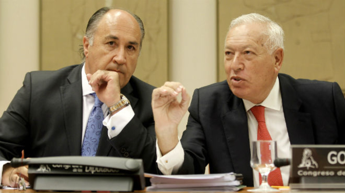José Ignacio Landaluce, en una comparecencia junto al exministro José Manuel García Margallo en el Congreso en el 2013.