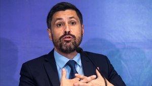 JoséRosiñol durante una rueda de prensa, el pasado 11 de diciembre.