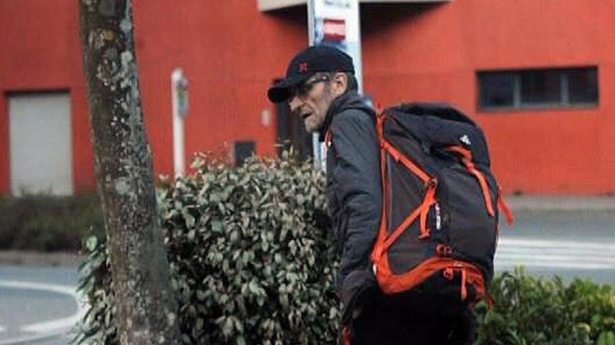 La justicia francesa deja en libertad a Josu Ternera. La foto es la última imagen del dirigente etarra antes de ser detenido enSallanches (Francia).