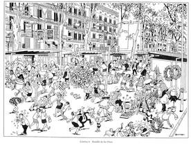 Las Ramblas, en una viñeta de Josep Maria Blanco, en el TBO.