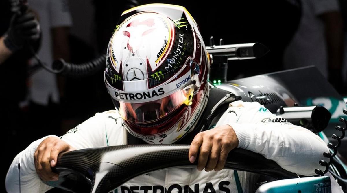 Lewis Hamilton (Mercedes), hoy en los primeros entrenamientos del GP de China, en Shanghai.