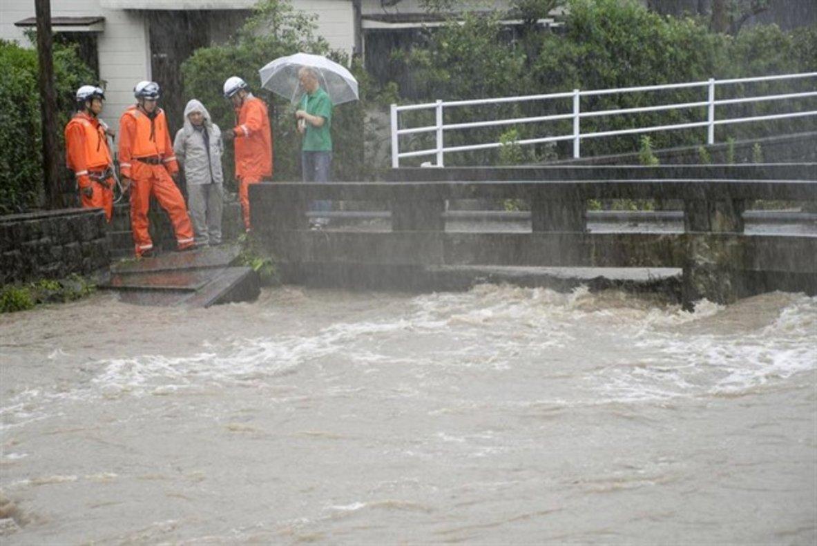Las fuertes lluvias siguen golpeando a Japón.
