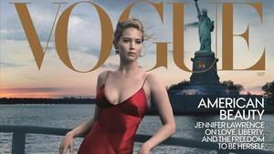 Una de las portadas de Vogue, con Jennifer Lawrence.