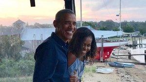 Barack y Michelle juntos.
