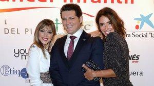 Gisela, Manu Tenorio y Elsa Anka, en la gala solidaria contra el cáncer infantil.