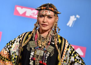 (FILES) In this file photo taken on August 20, 2018 Madonna poses in the press room at the 2018 MTV Video Music Awards at Radio City Music Hall in New York City. - Madonna has revealed that her next project will be the movie of her life -- and the final product should meet with her approval as she is bringing it to the screen herself.