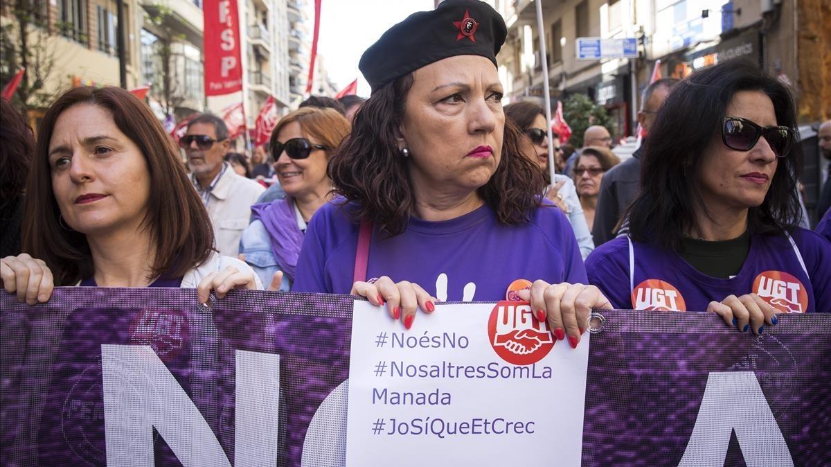 Manifestacion en Valencia por el dia internacional de los trabajadores