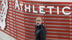 Elizegi, nuevo presidente del Athletic, en las instalaciones de Lezama.