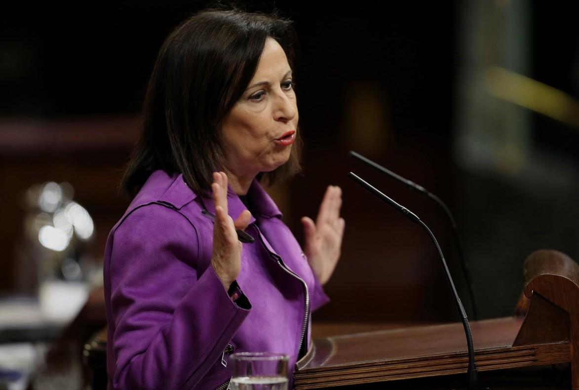 Margarita Robles, en el Congreso de los Diputados.