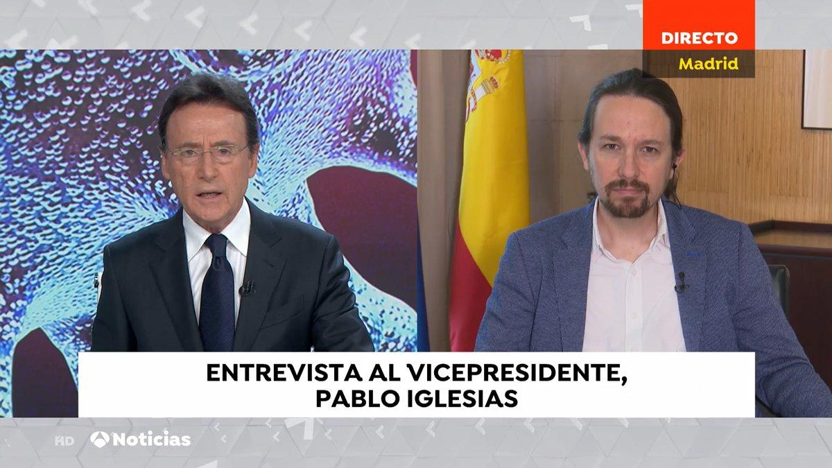 """Tensa entrevista de Matías Prats a Pablo Iglesias: """"¿Qué ha hecho mal el Gobierno?"""""""