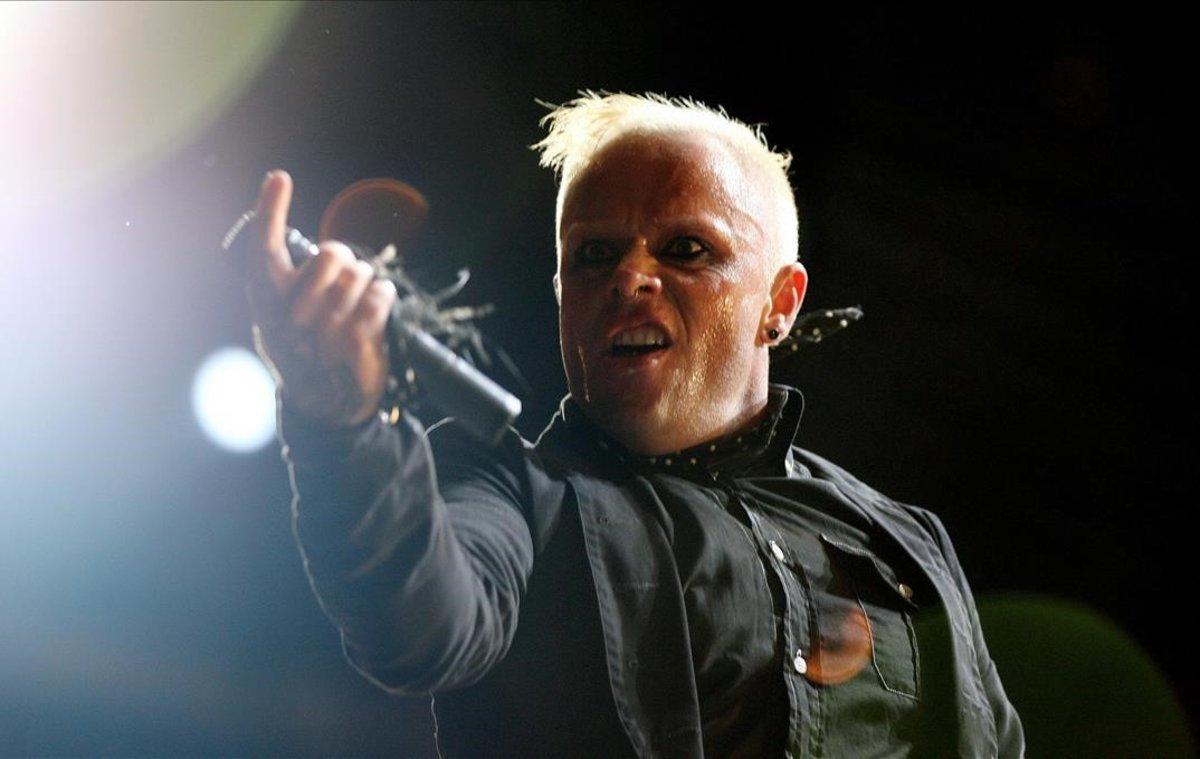 El británico Keith Flint, en un concierto de The Prodigy en junio del 2006