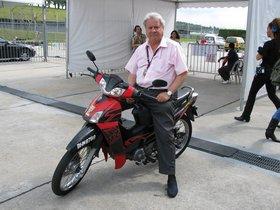 Paco Hernando 'el Pocero', en el ciruito de Sepang, Kuala Lumpur, en el 2007.