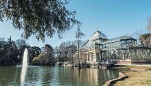 El Palacio de cristal del Parque de El Retiro.