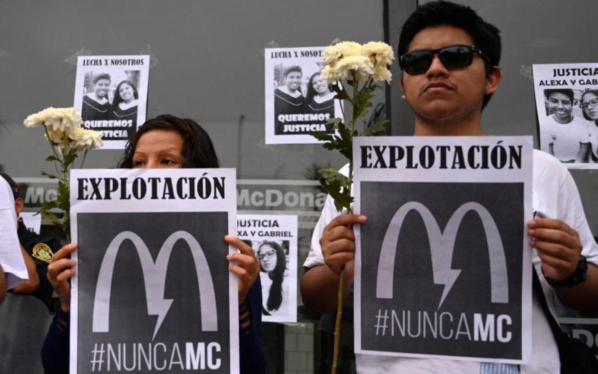 Perú avala cierre temporal de McDonald´s tras muerte de empleados