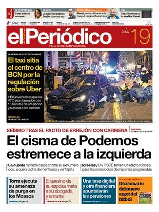 La portada de EL PERIÓDICO del 19 de enero del 2019