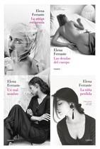 Portadas de las traducciones de Elena Ferrante al castellano.