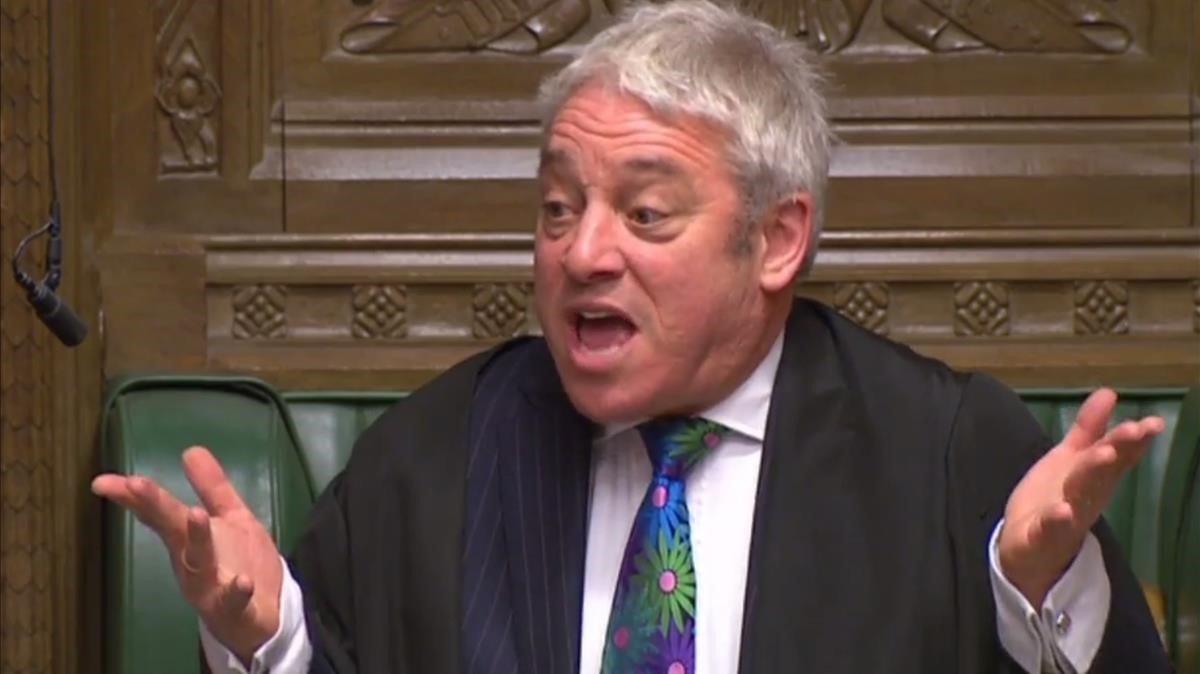 El presidente de la Cámara de los Comunes, John Bercow, durante una de sus intervenciones.
