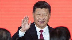 El presidente de China en la cerimonia de inauguración del puente Hong Kong-Zhunai-Macau