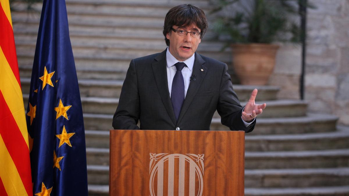 Puigdemont en su mensaje de Presidente de la Generalitat, hoy 28 de octubre en TV3