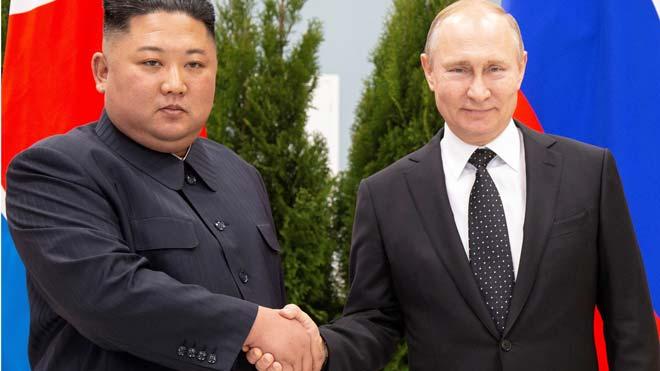 Putin y Kim Jong-un se reúnen en Vladivostok.