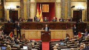 El 'president' Quim Torra,en el Parlament