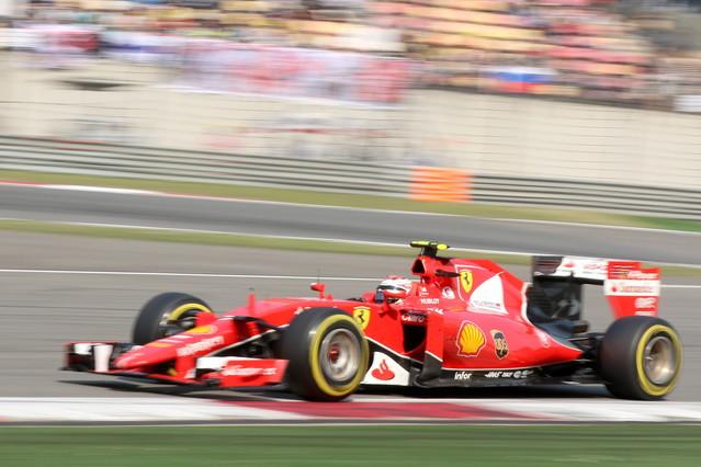 Raikkonen en el Gran Premio de China.