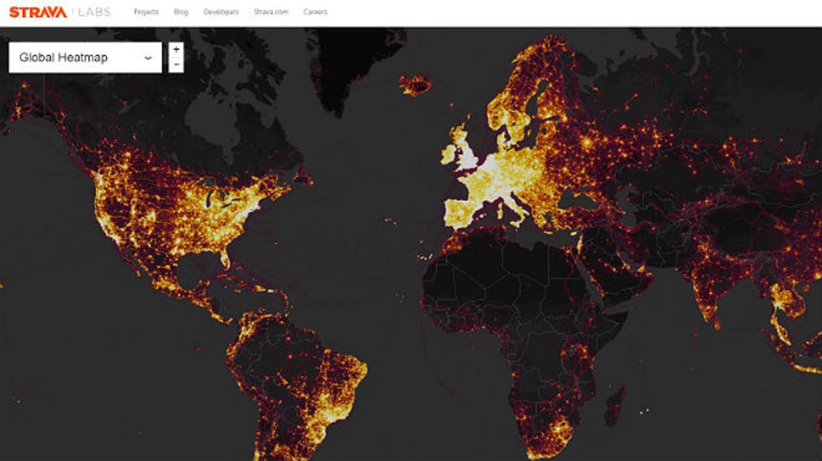 Una 'app' de fitnes revela ubicacions secretes de l'Exèrcit dels EUA