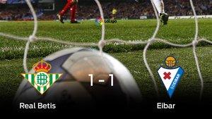 El Real Betis y el Eibar se repartieron los puntos tras un empate a uno