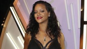 Rihanna posa en el acto de presentación de su línea de ropa interior, el pasado 10 de mayo.