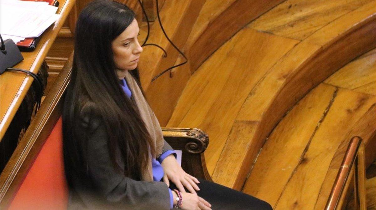 Rosa Peral, acusada del crimen de la Urbana, en el banquillo este jueves.