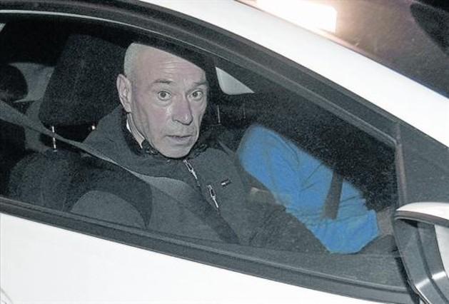Santi Potros sale de la prisión de Alicante, el pasado mes de diciembre, tras ser excarcelado.