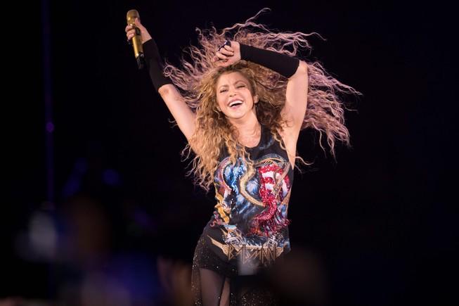 Shakira, en el concierto que ha dado en París el 13 de junio de este año.