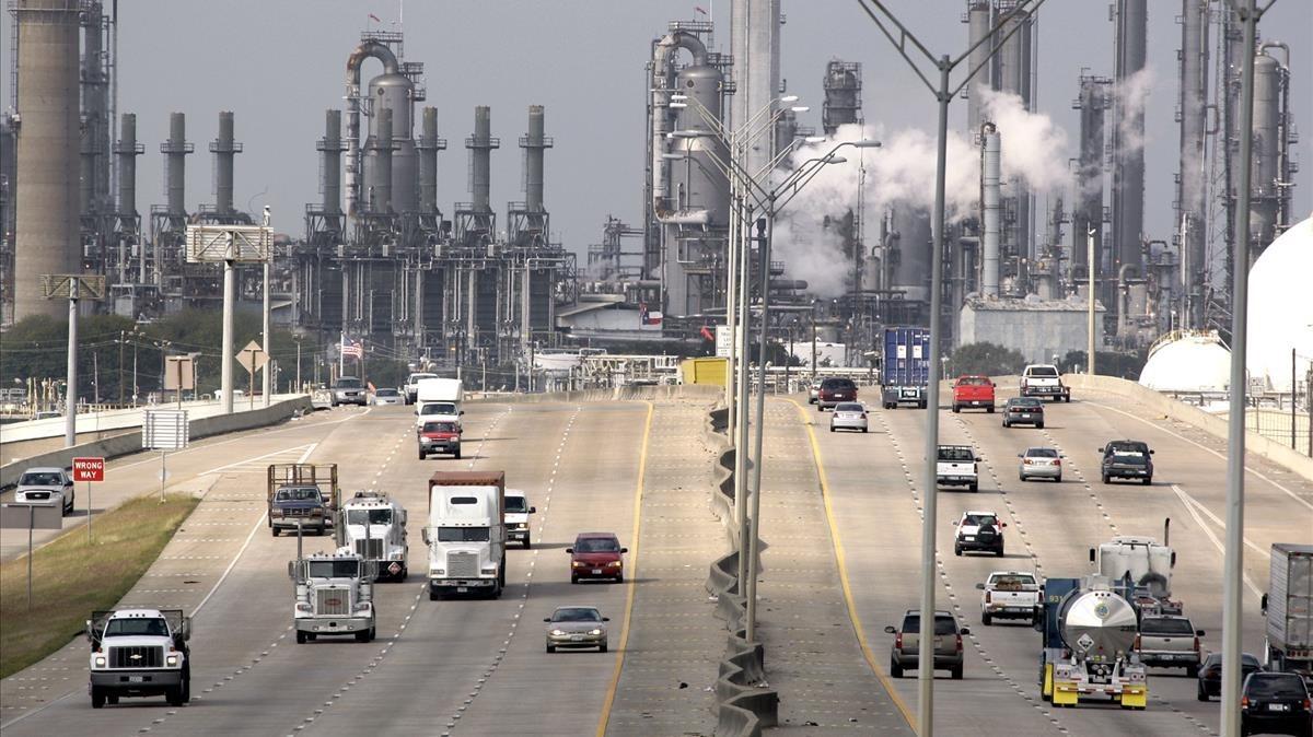 Refinería y planta petroquímica de Shell en la ciudad tejana de Deer Park, en EEUU.