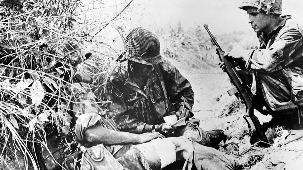 Soldados estadounidenses en Vietnam, en 1954.