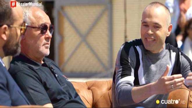Andrés Iniesta y su padre en 'Chester'